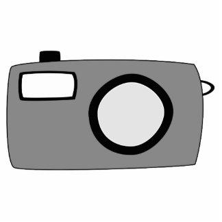 Gray and Black Camera. On White. Photo Cutout