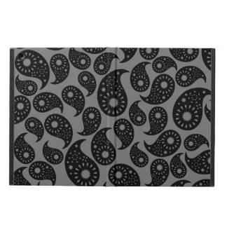 Gray and Black Paisley. Case For iPad Air