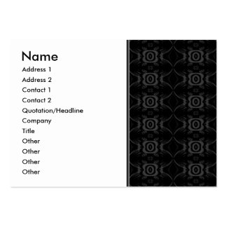 Gray and Black Stylish Flower Pattern. Business Card