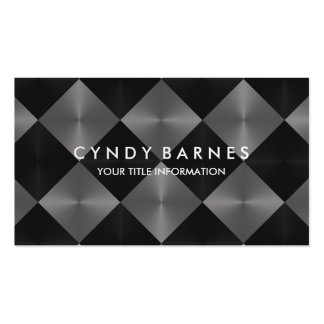 Gray and Black Tiles Business Card