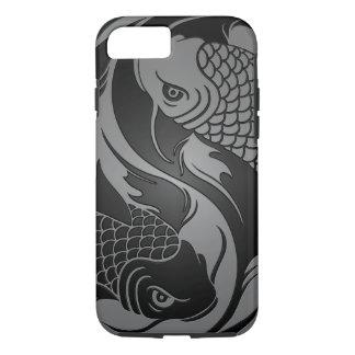 Gray and Black Yin Yang Koi Fish iPhone 7 Case