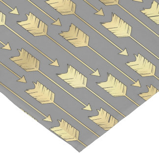 Gray and Faux Gold Arrows Pattern
