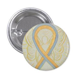 Gray and Gold Ribbon Awareness Angel Pins