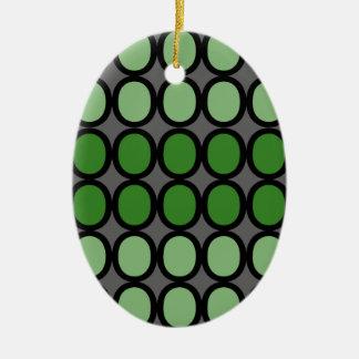 Gray and Green Splash of O's Christmas Ornament
