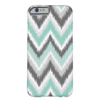 Gray and Mint Ikat Chevron Barely There iPhone 6 Case