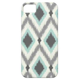 Gray and Mint Tribal Ikat Chevron Barely There iPhone 5 Case