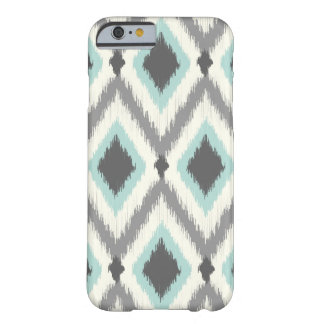 Gray and Mint Tribal Ikat Chevron Barely There iPhone 6 Case