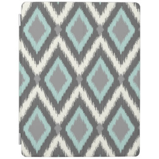 Gray and Mint Tribal Ikat Chevron iPad Cover