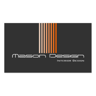 Gray and Orange Modern - Business Card
