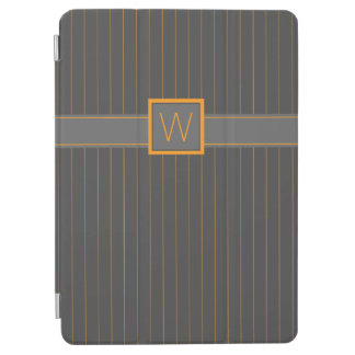 Gray and Orange Pinstripes iPad Cover