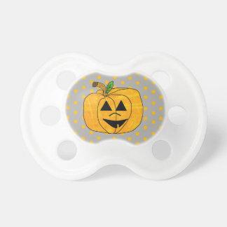 Gray  and Orange Pumpkin Halloween  Baby Pacifier