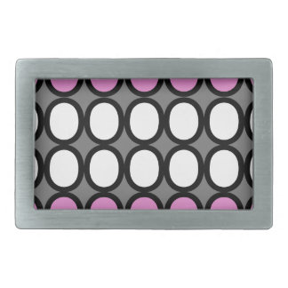 Gray and Pink Splash of O's Belt Buckles