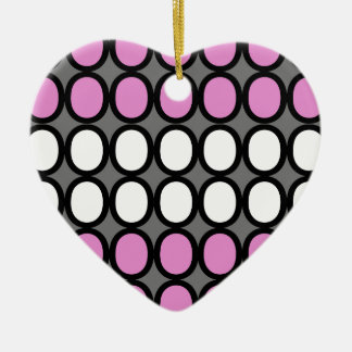 Gray and Pink Splash of O's Christmas Ornament