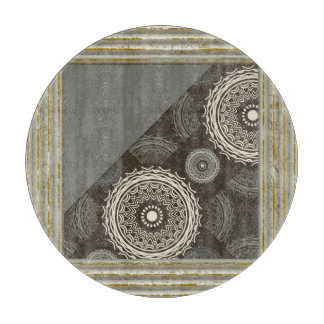 Gray And Taupe Abstract Cutting Board