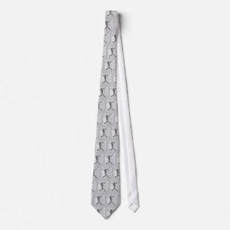 Gray and White Baseball Player Design Necktie