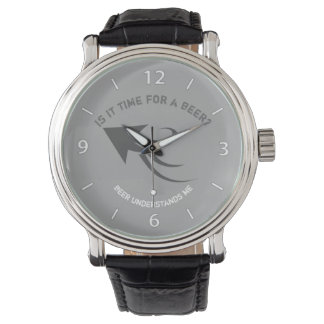 Gray and white beer quote watch