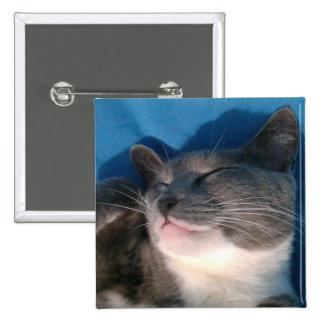 Gray and White Cat Pin