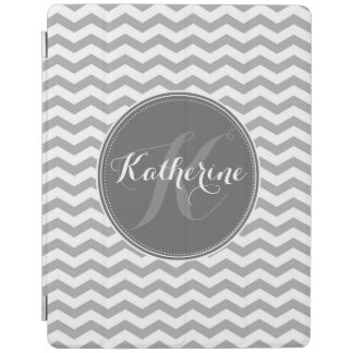 Gray and white chevron ipad cover