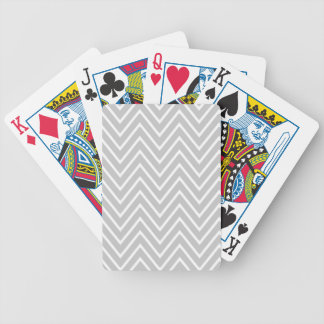 Gray and White Chevron Pattern 2 Bicycle Playing Cards