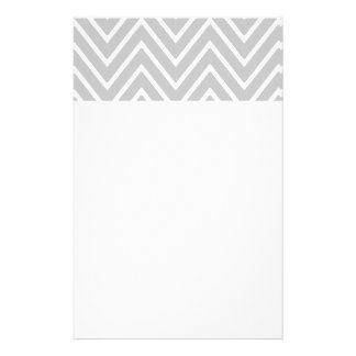Gray and White Chevron Pattern 2 Customized Stationery