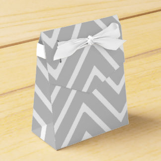 Gray and White Chevron Pattern 2 Party Favour Boxes