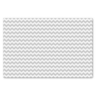 Gray and white chevron pattern custom tissue paper