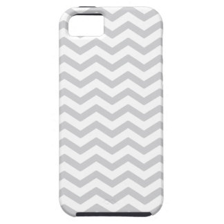 Gray And White Chevron Print Case For iPhone 5/5S