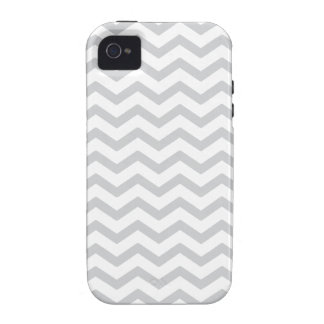Gray And White Chevron Print Case For The iPhone 4