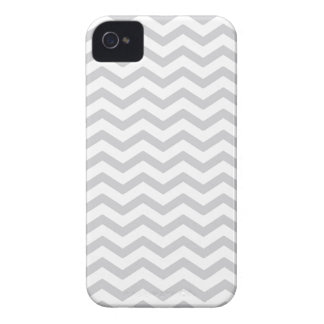 Gray And White Chevron Print iPhone4 Case