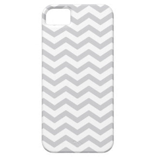Gray And White Chevron Print iPhone 5 Case