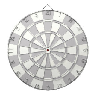 Gray And White Dartboard