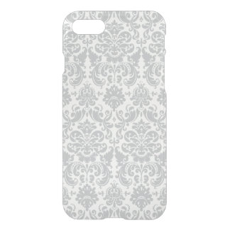 Gray and White Elegant Damask Pattern iPhone 8/7 Case