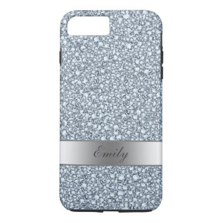 Gray And White Encrusted Diamonds Glitter Pattern iPhone 7 Plus Case