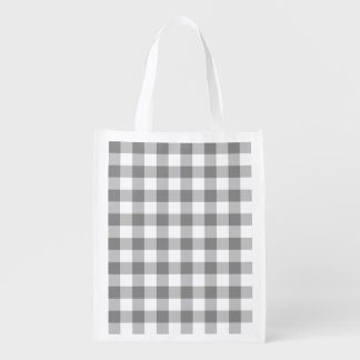 Gray And White Gingham Check Pattern