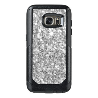 Gray And White Glitter Texture OtterBox Samsung Galaxy S7 Case