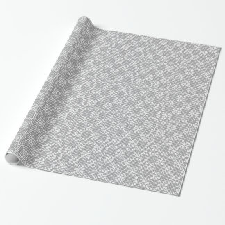 Gray And White Japanese Print Wrapping Paper