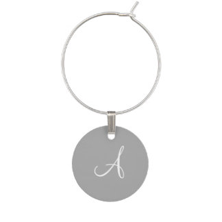 Gray and White Monogram Wedding Favor