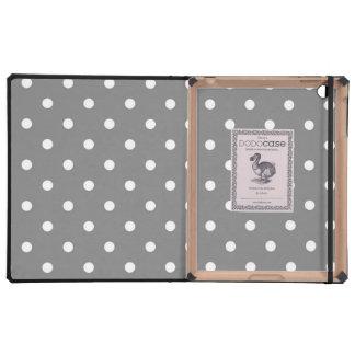 Gray and White Polka Dot DODO Case iPad Covers