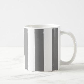 Gray and White Stripes Basic White Mug