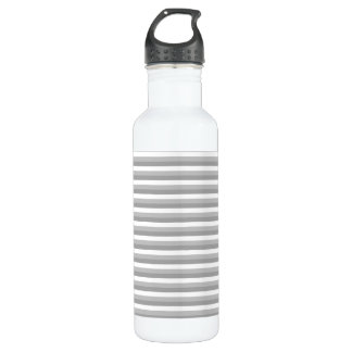 Gray and white stripes. Pattern. 710 Ml Water Bottle