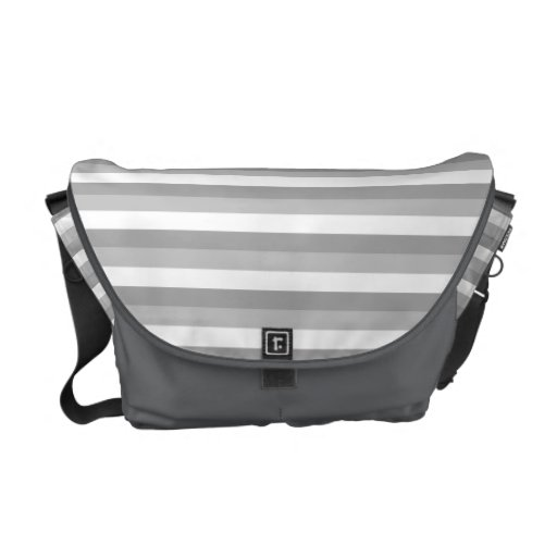 Gray and white stripes. Pattern. Commuter Bags
