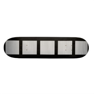 Gray and white stripes Pattern Skateboards