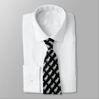 gray and white tabby kitten original design tie