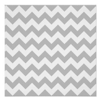 Gray and White Zigzag Chevron Pattern