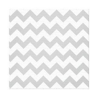 Gray and White Zigzag Chevron Pattern Gallery Wrap Canvas