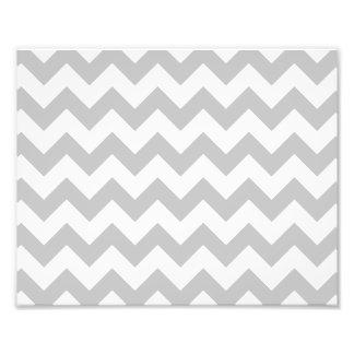 Gray and White Zigzag Chevron Pattern Photographic Print