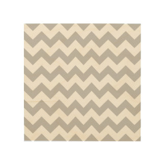 Gray and White Zigzag Chevron Pattern Wood Canvases