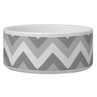 Gray and White Zigzag Pattern.