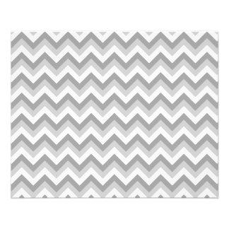 Gray and White Zigzag Pattern. 11.5 Cm X 14 Cm Flyer