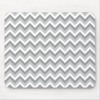 Gray and White Zigzag Pattern. Mouse Mat